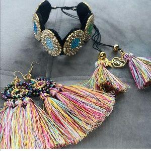 Bracelet and earrings ~hand made~